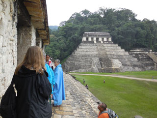 Carol Karasik speaking on Maya cosmology in Palenque
