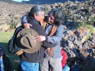 Don Américo  and Hopi Elder Harold Joseph